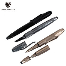 Outdoor survival self defense pen multifunctional tactical pen with knife capacitance pen emergency tool broken windows device