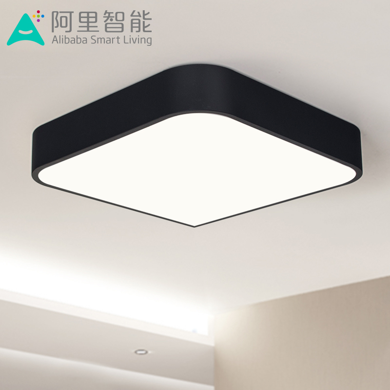 Bedroom Lamp Nordic Square LED Ceiling Lamp Living Room Ornaments Creative Atmospheric Lighting Study AC220V(China (Mainland))