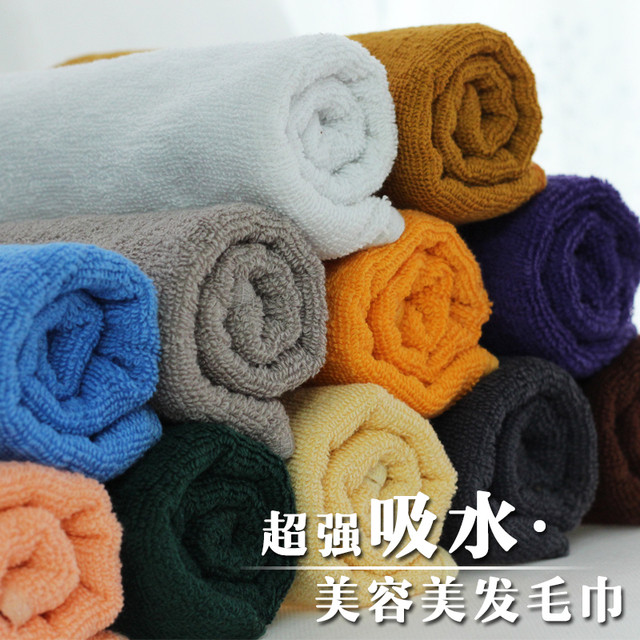 P2100 hair absorbent towels 100% cotton towel thickening beauty hair product pediluvium weight:120g
