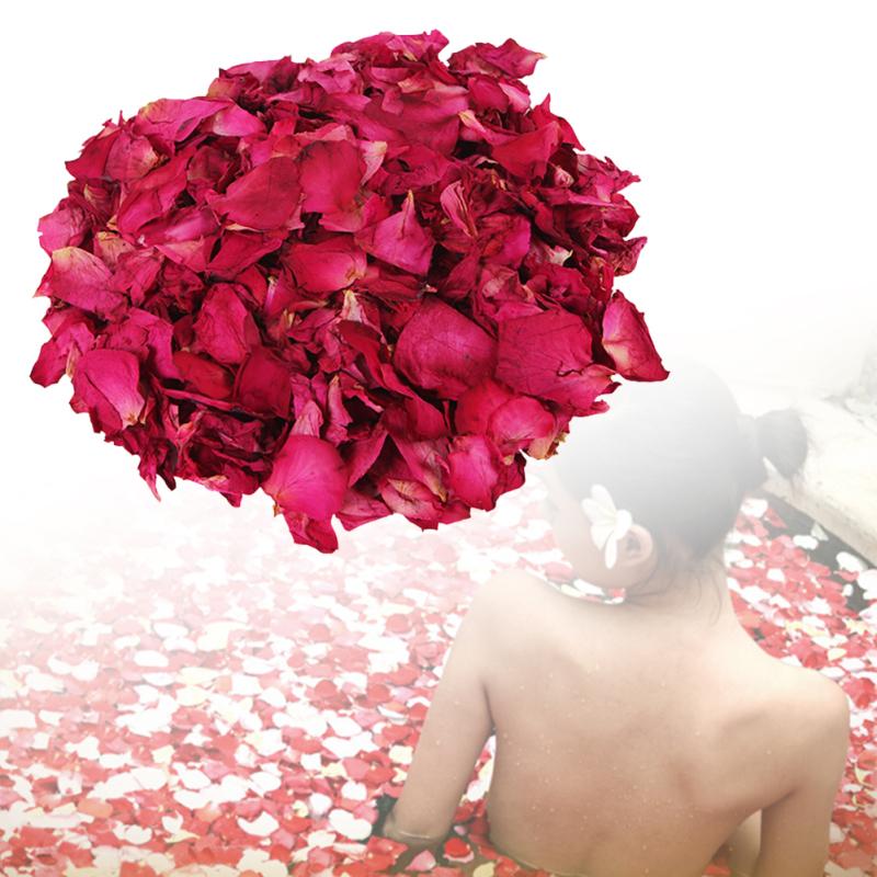 Petal bath Bathing Tool Set 100g/Pack 100% Natrual Rose Petal Bathroom Relieve Fatigue Skin Smooth dried rose petals Z3