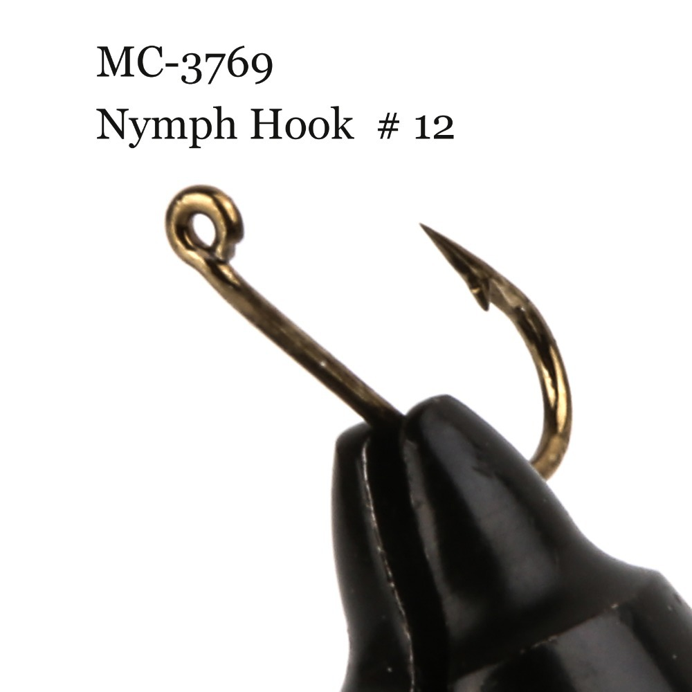 500 pieces mc 3769 size 12 fly tying hook nymph fly for Trout fishing hooks