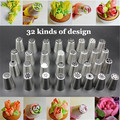 12PCS SET Stainless Steel Russian Tulip Icing Piping Nozzles Pastry Decorating Tips Cake Cupcake Decorator Rose