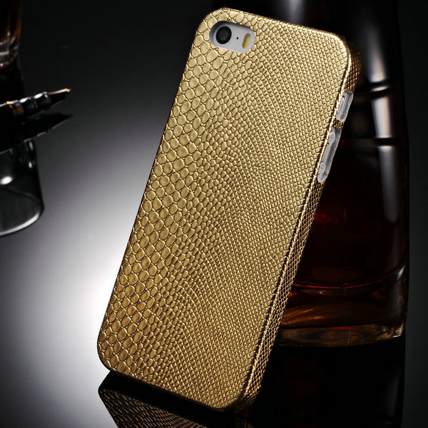 Fashion PC Hard Case iPhone 5 5S 5G SE 5SE Luxury Lizard Pattern PU Leather Back Cover iphone5 Protective Phone Bag - Shop208695 Store store