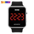 2016 New SKMEI Classic Fashion Watch Men Women Electronic LED Touch Candy Jelly Watch Silicone Sports
