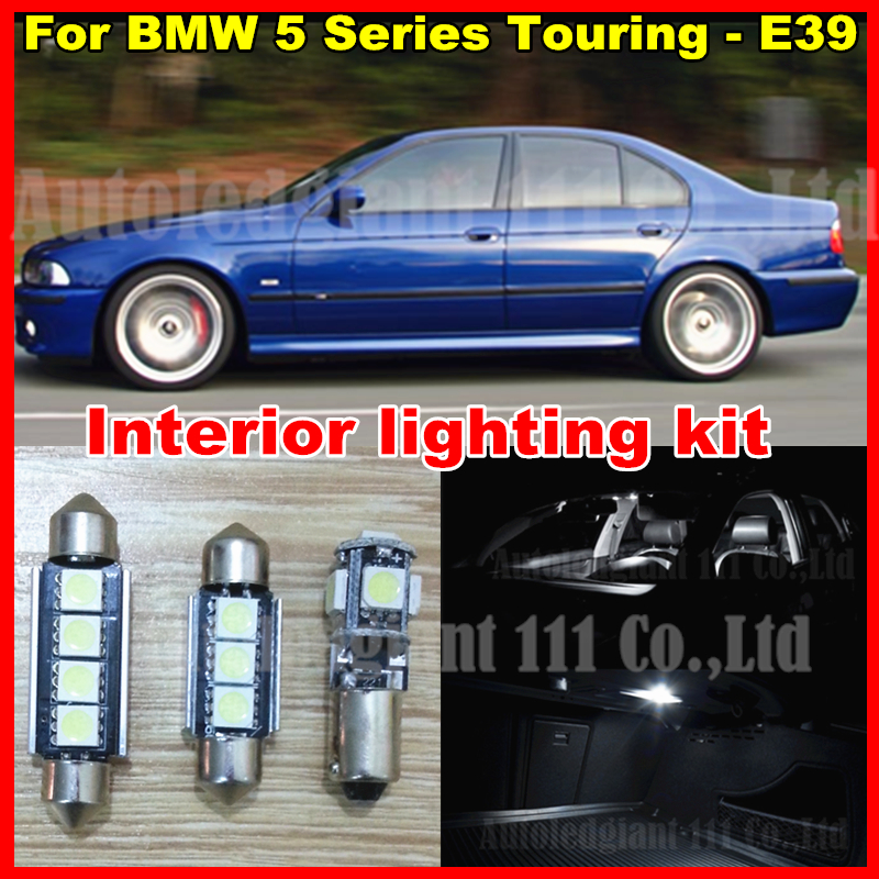 20x Bright White Car Interior Led Light Package BMW E39 5 Series Touring LED lighting kit 528i 540i 525i Canbus - EcoFri Factory store