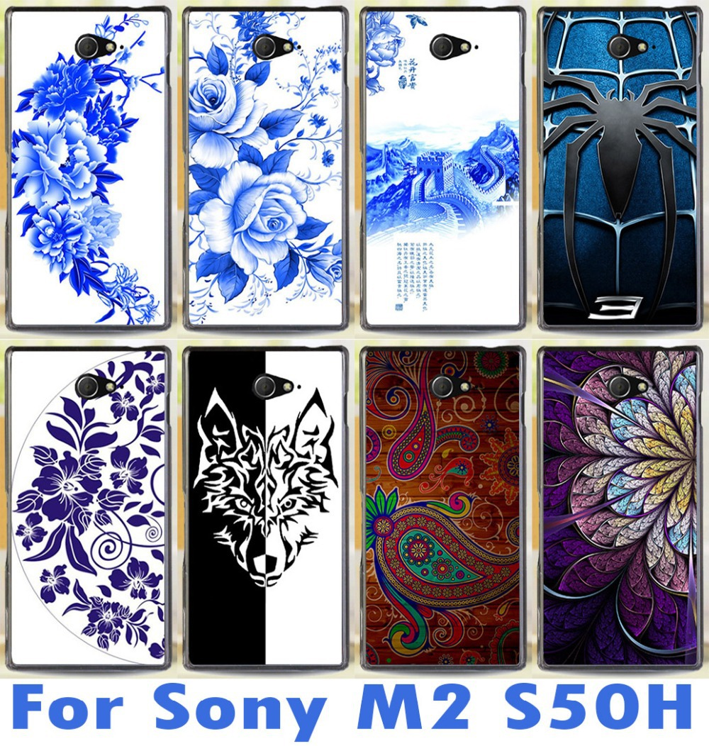 new pattern phone case freeshipping For Sony Xperia M2 S50h Dual D2302 D2305 D2303 D2306 fashional mobile phone case cover hard(China (Mainland))