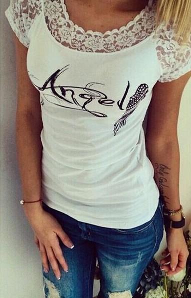 Женская футболка femme camisetas poleras t