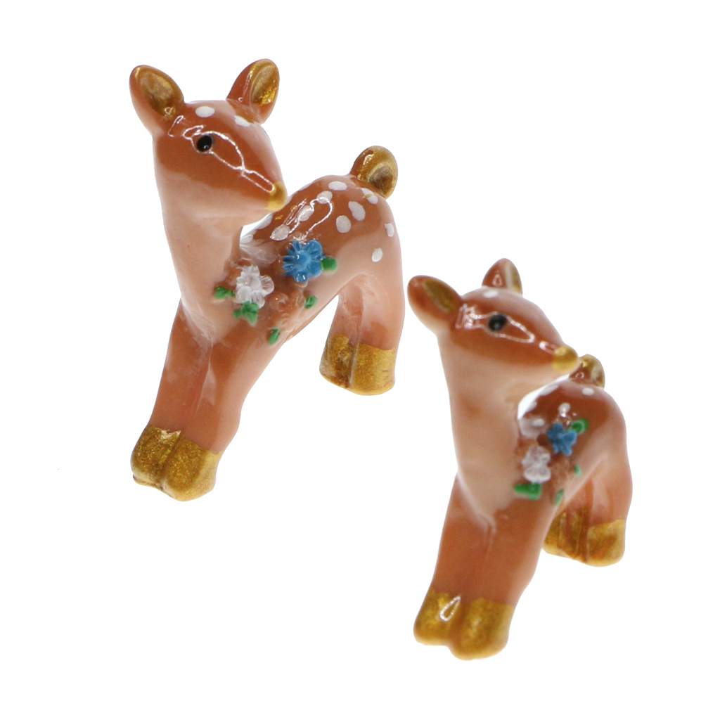 Hot 10pcs Miniature Resin Garden Ornaments Miniature Ornaments Decor Cute Deer Home Garden Decoration Gift Aceessories