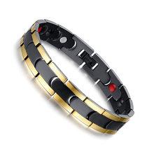 Магнитный браслет Vinterly Energy, браслеты для женщин, Золотая цепочка, браслет из нержавеющей стали, женский очаровательный браслет для мужчин ...(China)