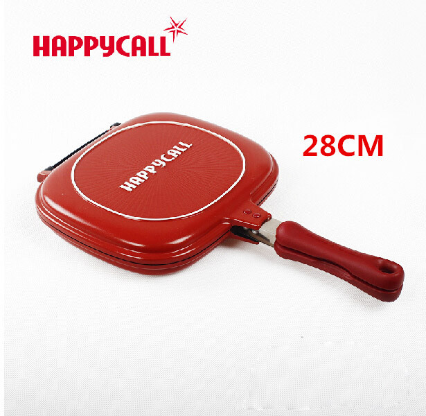Wholesale Happycall Happy Call 28cm Fry Pan Non-stick Fryer Pan Double Side Grill Fry Pan(China (Mainland))