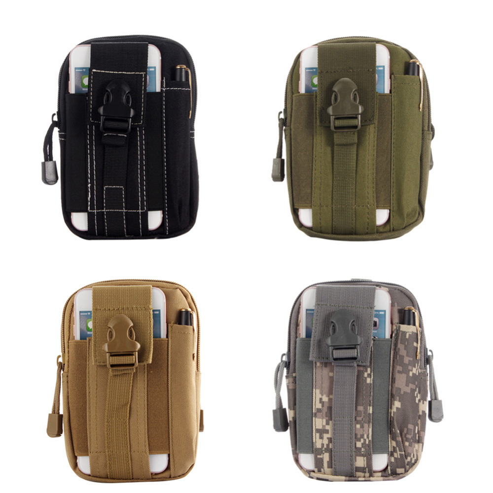 Outdoor Tactical Holster Military Molle Hip Waist Belt Bag Wallet Pouch Purse Phone Case with Zipper for iPhone for LG for HTC(China (Mainland))