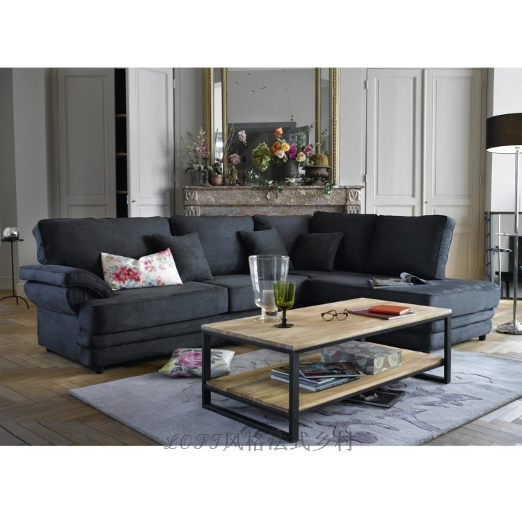 loft american country style wrought iron wrought iron coffee table living room coffee table sofa. Black Bedroom Furniture Sets. Home Design Ideas