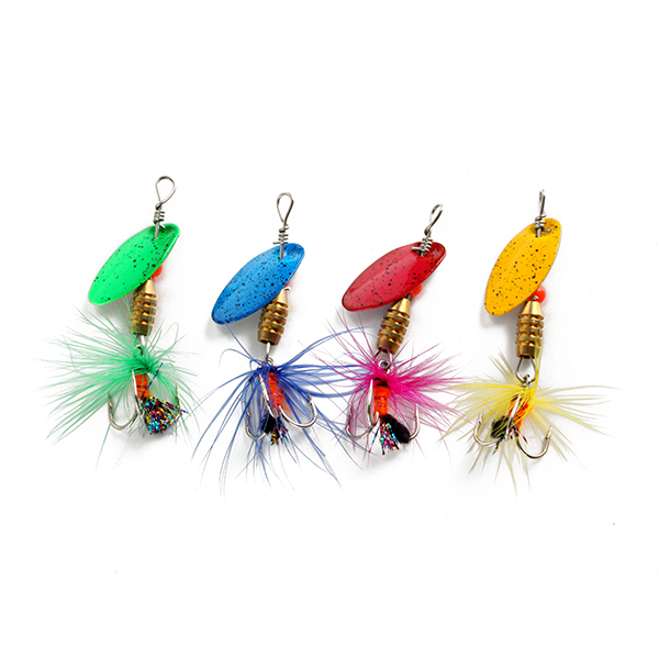 NEW STYLE 4pcs 20g spinner bait fishing lure spoons Fresh Shallow Water Bass Walleye Minnow Fishing Tackle freeshipping(China (Mainland))