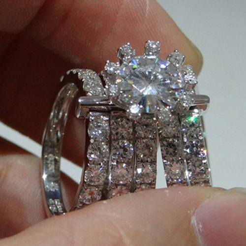 Moissanite Wedding Ring Sets