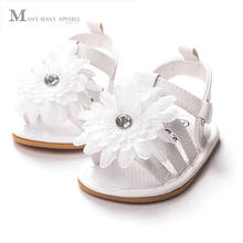 Infant Toddler Shoes Soft Bottom Summer Style Roman Sandals Children Shoes Girls Sandals Rhinestone Sunflowers Baby Girl Shoes