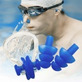 Practical Soft Silicone Swimming Nose Clips 2 Ear Plugs Set With Box Waterproof Sport Swim Earplug