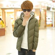 2014 new men's winter coat jacket wholesale Korean men's warm thick padded hooded coat