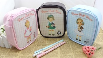 New M size Kawaii doll girl design women Make up bag storage cosmetic Cases bag/lovely  gift/Cute Korean stationery/Wholesale