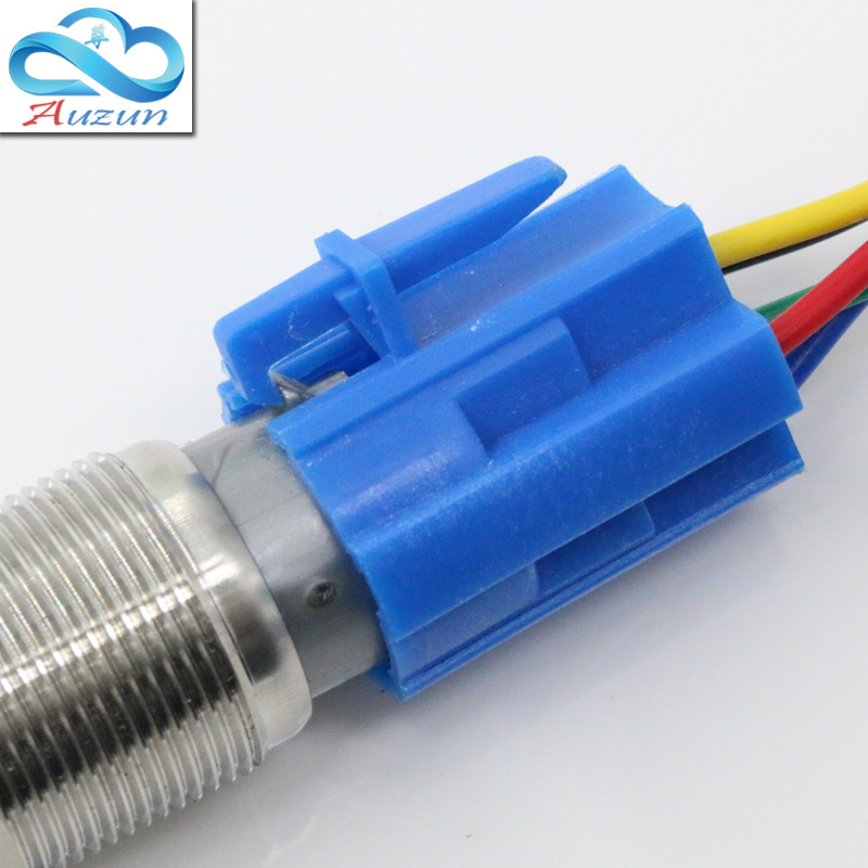 The 19 mm metal button switch base five terminals are not welded Line 20 cm long