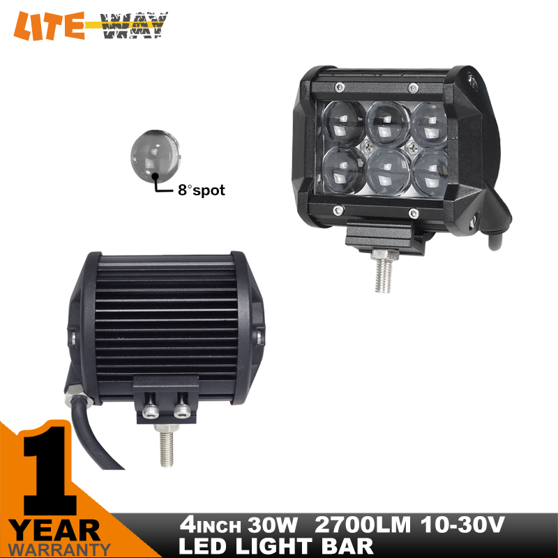 "4"" inch 30W LED Work Light Lamp for Motorcycle Tractor Boat of Driving Offroad Light 4WD 4x4 Truck SUV ATV Spot Flood 12v 24v(China (Mainland))"