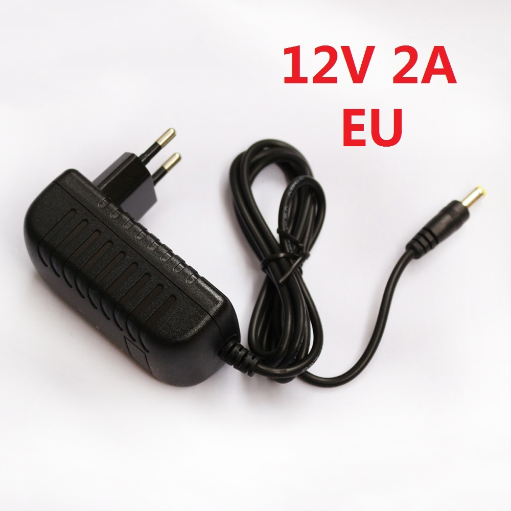 EU Plug Adapter 100-240VAC Power adapter DC12V Power supply For LED Strips Adapter Power Source EU Electrical led strip adapter(China (Mainland))