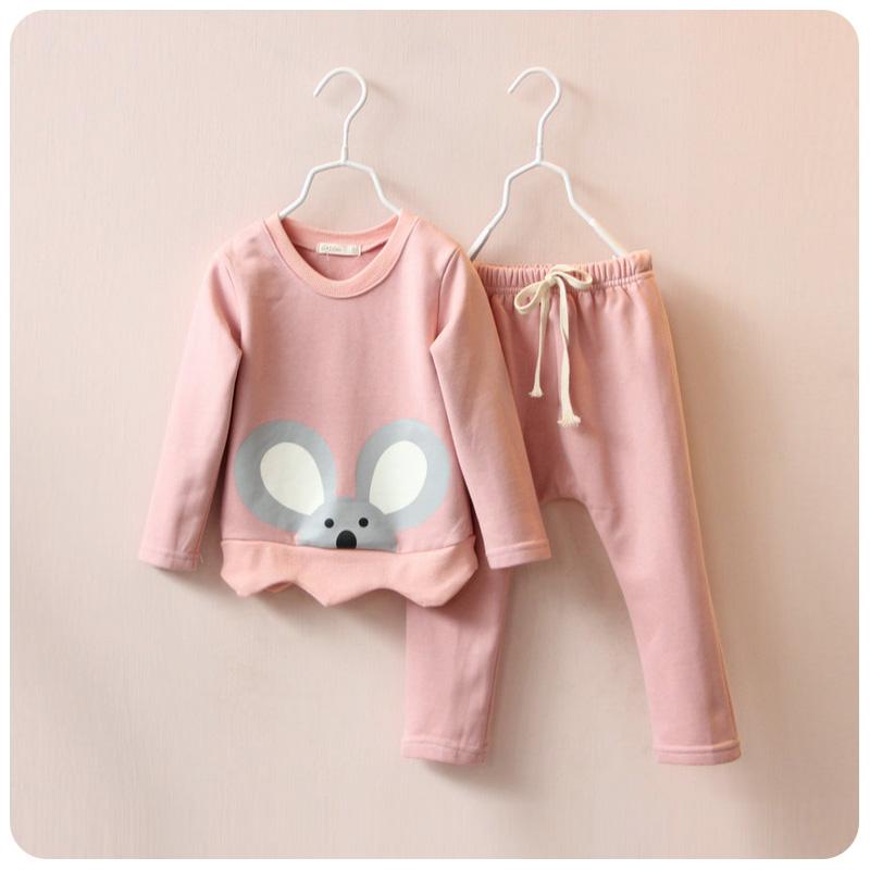 Гаджет  Retail 2015 Cotton Clothing Set Spring and Autumn Girls Tracksuit Cartoon Rabbit Baby Girl Outfits Next Clothing Set Mini Rodini None Детские товары