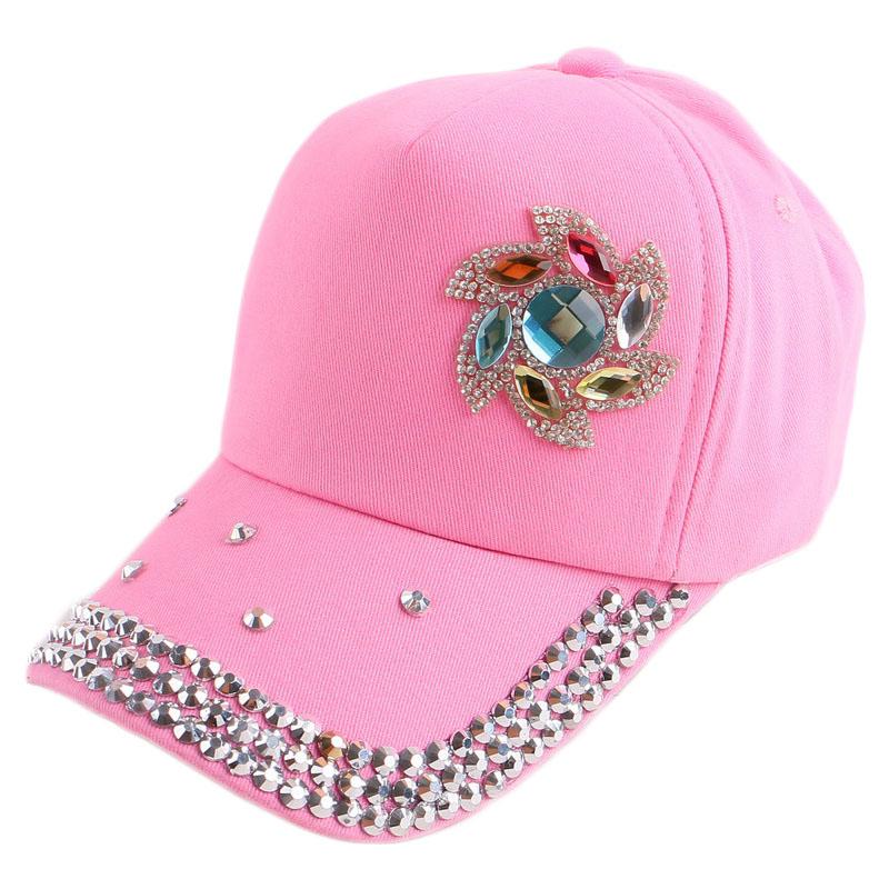 2016 new design children summer baseball cap casual small floral pink fuchsia cotton handmade custom hip hop child snapback hats(China (Mainland))