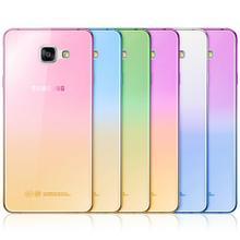 Fashion Soft TPU Gradient Color Back Cover Case for Samsung Galaxy A3 A5 A7 2016 J1 J3 J5 J7 S3 S4 S5 S6 S7 Edge Grand Prime(China (Mainland))