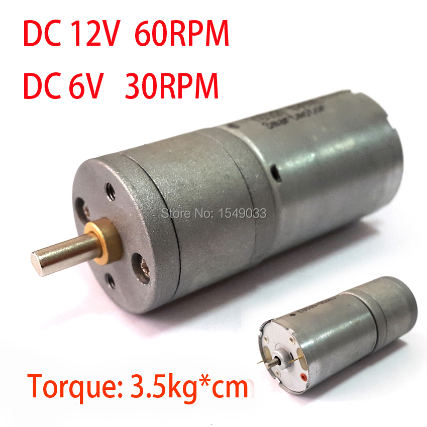 New 12v Dc Motor 60rpm Powerful High Torque Gear Box Motor