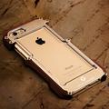 For iphone SE 5S 5 6 6S Plus Luxury Doom Dirt Shockproof Metal Aluminum wood Cases