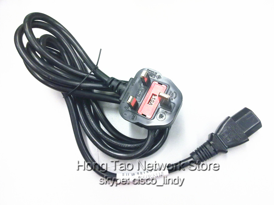 5pcs/lot UK STANDARD power cable 1.5m 5FT uk power cord for computer projector monitor cisco router switch uk power cable(China (Mainland))