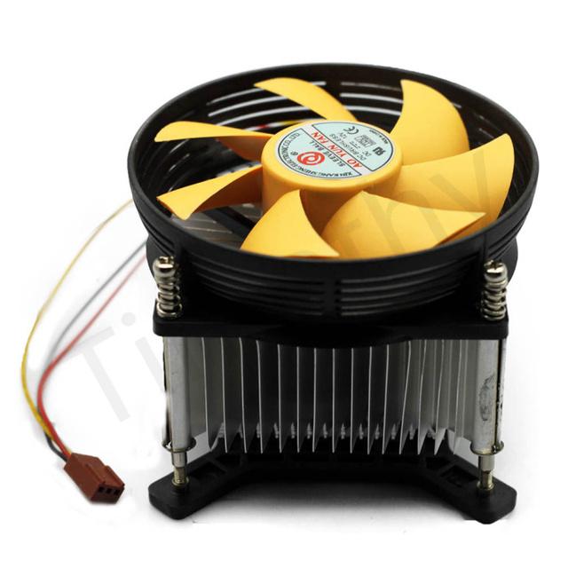 HOT SALE FREE SHIPPING A-85 3PIN 12V CPU COOL COOLING HEATSINK PC COOLER Yellow Silent FAN SUPPORT Intel LGA775 1PC#FS051