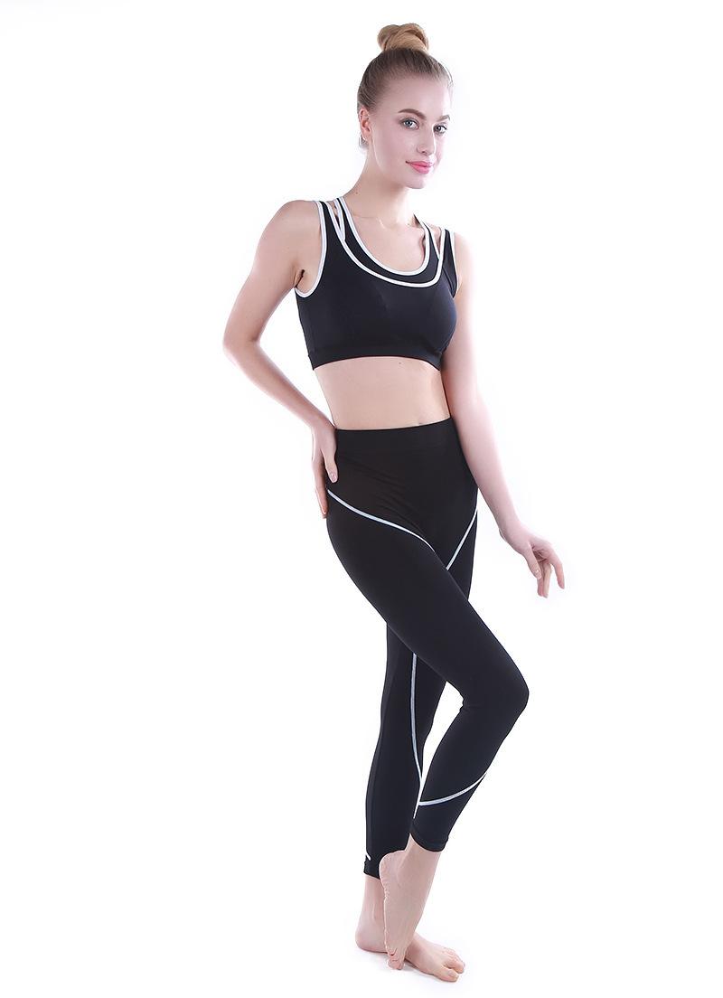 Gift chest pad 2016 summer new sports suit female yoga sports vest fitness vest no rims yoga pants design vetement femme TZ02