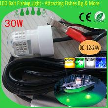 Submersible Fishing Lights LED 30W IP68 Waterproof 12V Underwater Fishing lure LED Dock Night Fishing Lights(China (Mainland))