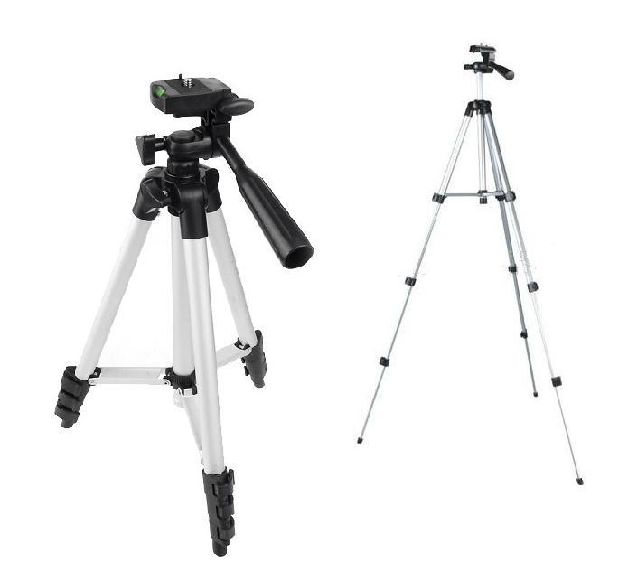 Big discount for 5 pcs  New Compact Flexible 4 Sections 1050mm Universal 1/4 Metal Professional Tripod with Bag Free shipping