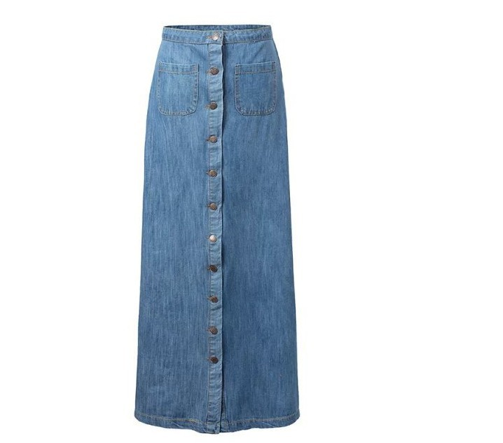 Choose from tailored skirts for a sleek silhouette or long, flowing denim skirts for women for a feminine look. Completely figure flattering, denim A-line skirts are a must have. The A-line design gives a crisp, clean look and the denim material goes well with just about any top.