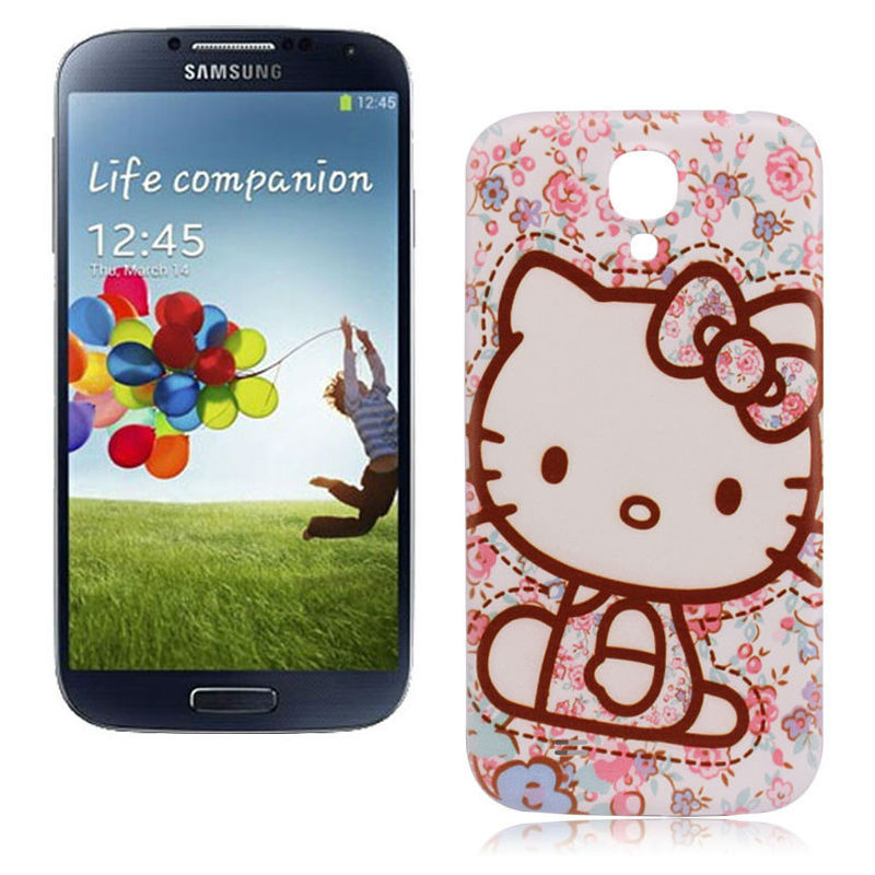 Hello Kitty New Design Cover Samsung Galaxy S4 i9500 Battery Case Plastic Housing MPCXSYX345 - TwinkleStarMart store