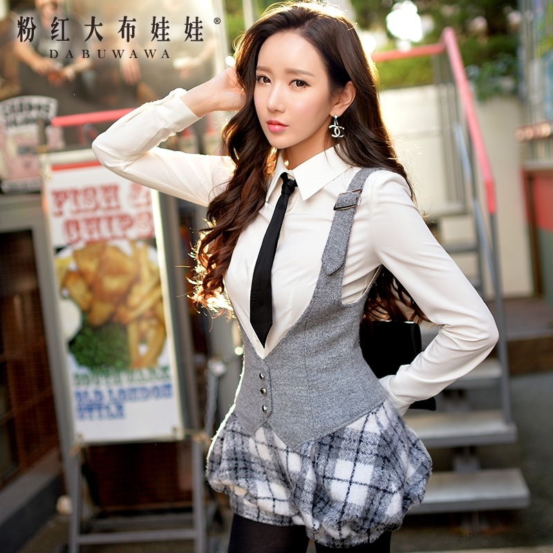 Winter pants female wear pink doll 2015 Korean version of the new wool pants strap shorts female