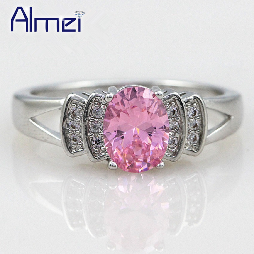 aliexpress buy pink cz rings rhinestone