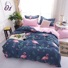 Flamingo Luxury Bedding Set Russia Euro Queen Double King Size Duvet Cover Set 2/6PCS Family Bed Linen Set Home Textile(China)