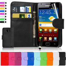 Hot sale New Arrival Fashion Leather Dirt-resistant Cases For I9100 Galaxy SII Discount Brand Phone Cases BOM007(China (Mainland))