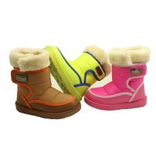 De los nuevos niños de la nieve del invierno botas de moda gruesa felpa botas cálidas zapatos antideslizantes para 3-9 años de edad los niños(China (Mainland))