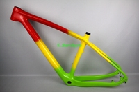Factory price  full carbon mountain bike  frame green yellow red gloosy/matte mtb carbon frame 29er T800 bicycle frame