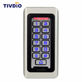 TIVDIO Keypad RFID Access Control System Proximity Card Standalone 2000 Users Door Access Control Waterproof Metal