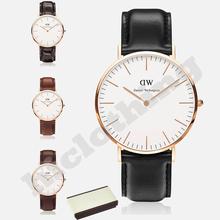 Daniel Wellington DW relojes de las mejores marcas de lujo reloj de cuarzo Relogio Feminino para Men Casual moda cuero Wirstwatches