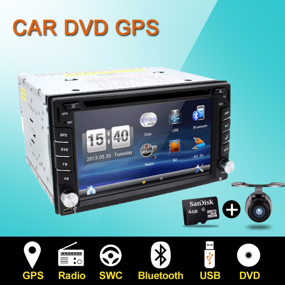 Car DVD player GPS Radio Bluetooth 2 din universal for X-TRAIL Qashqai x trail juke for nissan Stereo Radio Bluetooth USB/SD(China (Mainland))