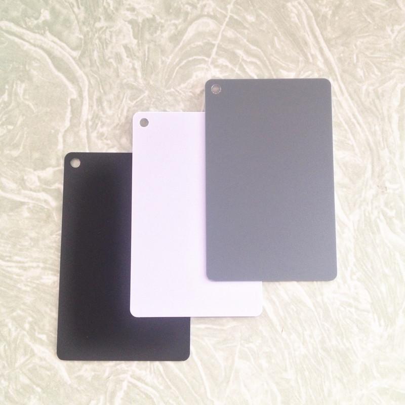 3 в 1 белая черная 18% серого цвета баланс карты 8.5x5.5cm карманный размер Цифровые серую карту с шейный ремешок для dslr камер