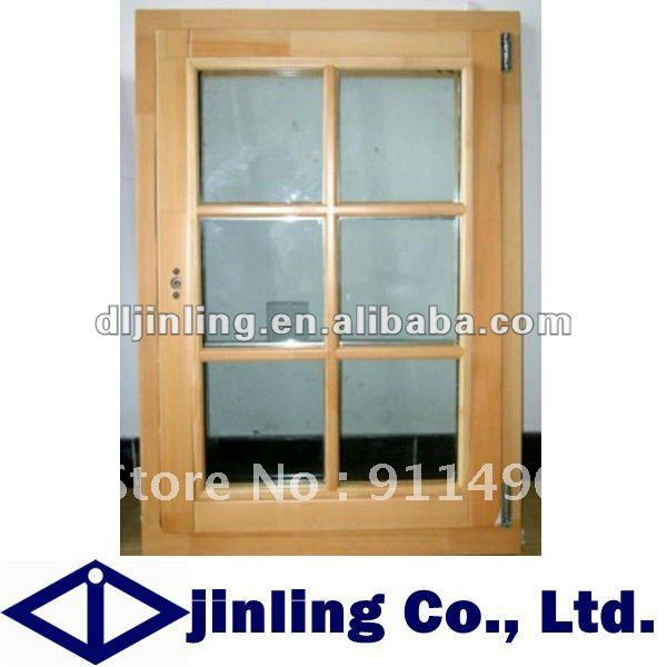 Wooden frame decorative windows grills grill design