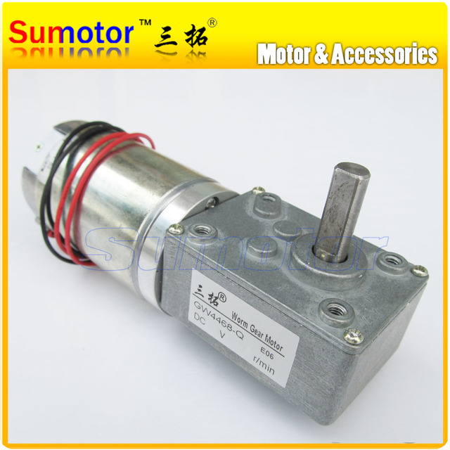 3rpm gw4468 dc 12v 380n cm 0 5a 10w low speed high torque for Low speed dc motor 0 5 6 volt