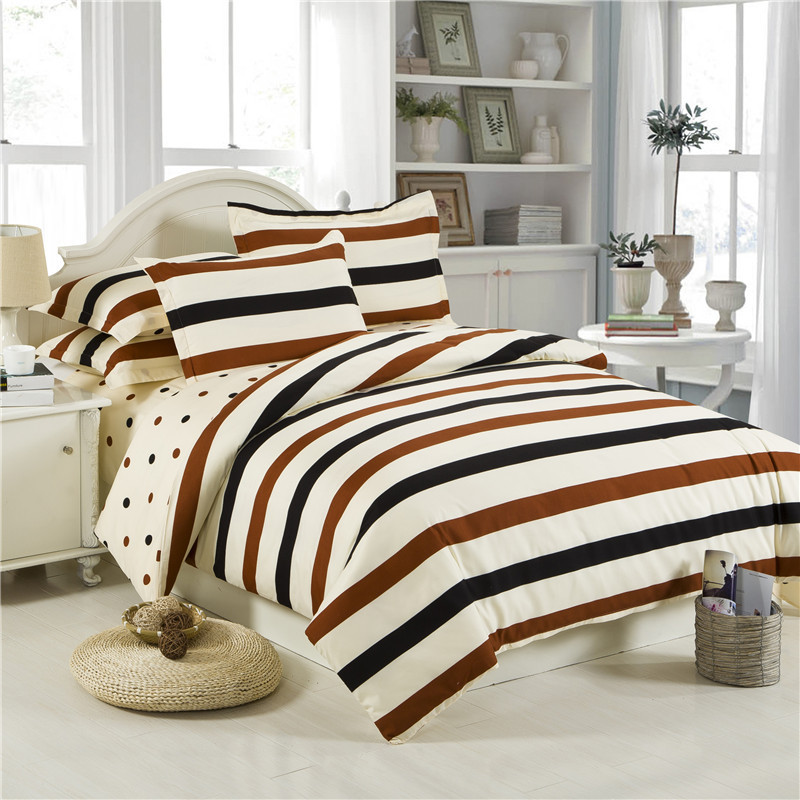 Wholesale Price Cotton Bedding Set Stripes Flowers Plaid Style Bed Linen Duvet Cover Set Flat